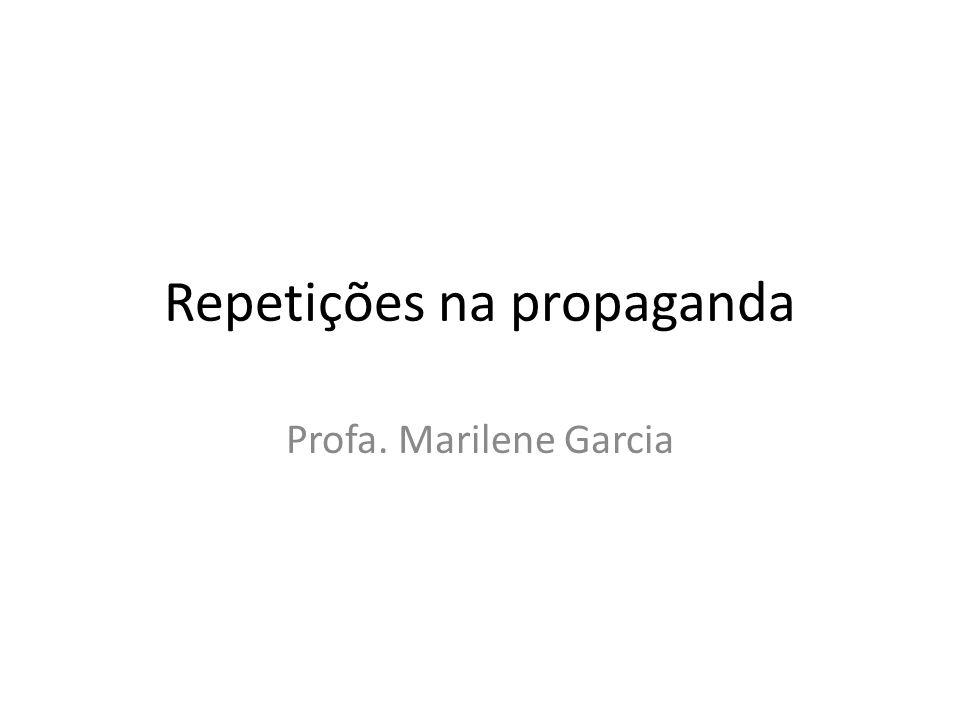 Repetições na propaganda