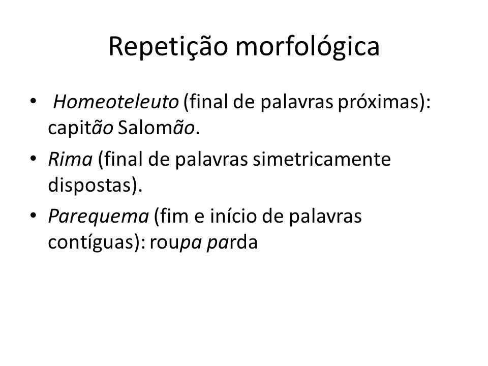 Repetição morfológica