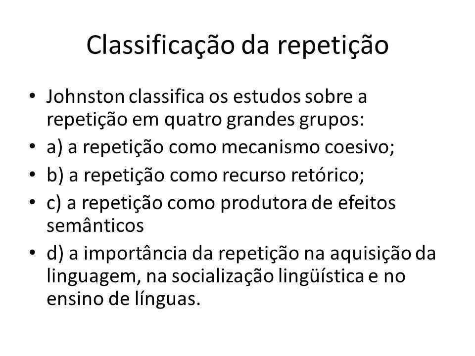 Classificação da repetição
