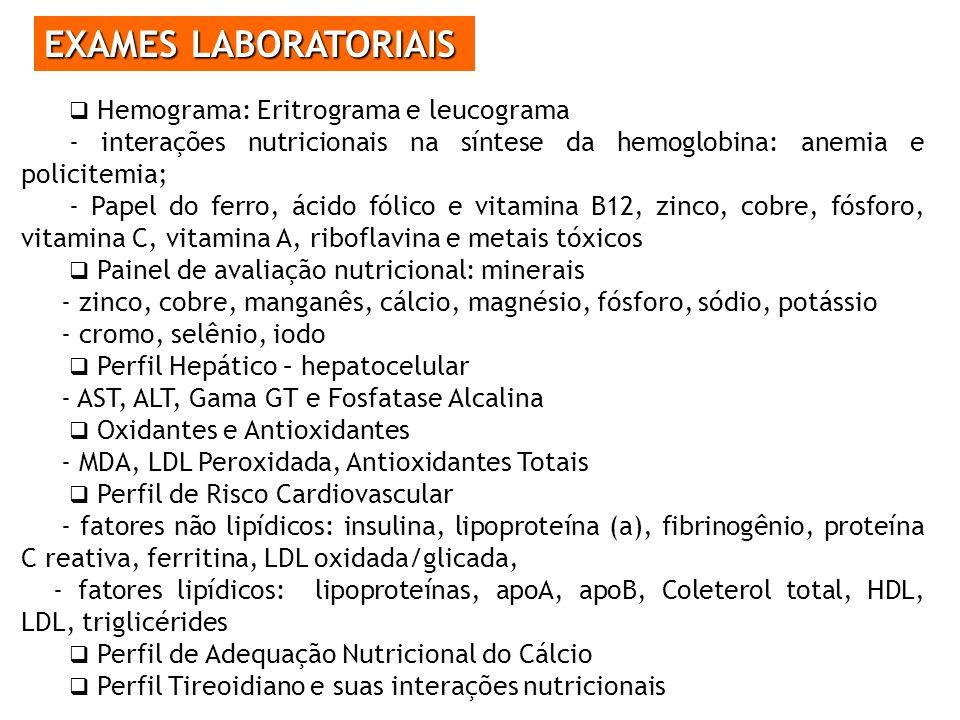 EXAMES LABORATORIAIS Hemograma: Eritrograma e leucograma