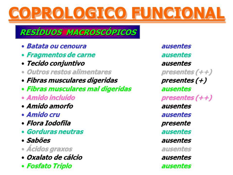 COPROLOGICO FUNCIONAL RESÍDUOS MACROSCÓPICOS