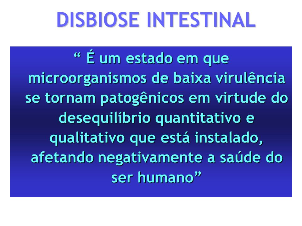 DISBIOSE INTESTINAL