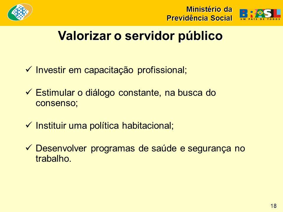 Valorizar o servidor público