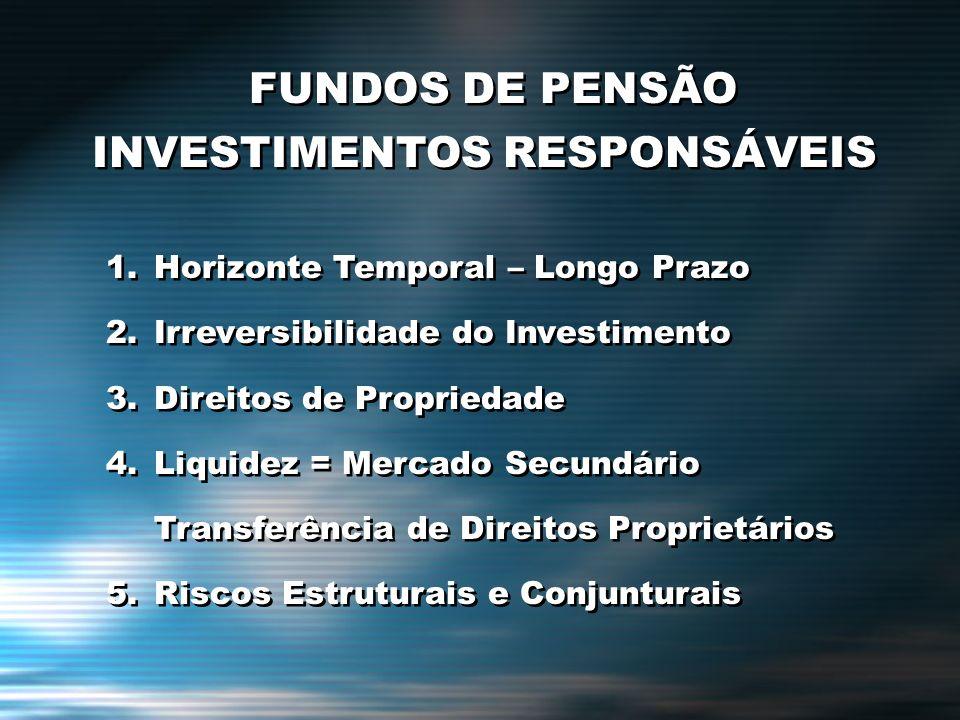 FUNDOS DE PENSÃO INVESTIMENTOS RESPONSÁVEIS