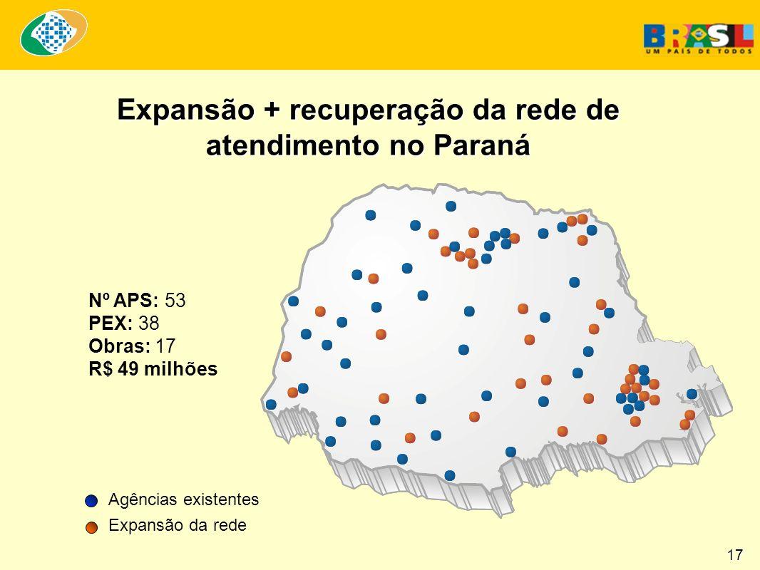 Expansão + recuperação da rede de atendimento no Paraná