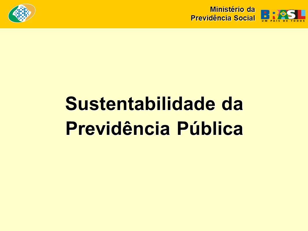Sustentabilidade da Previdência Pública