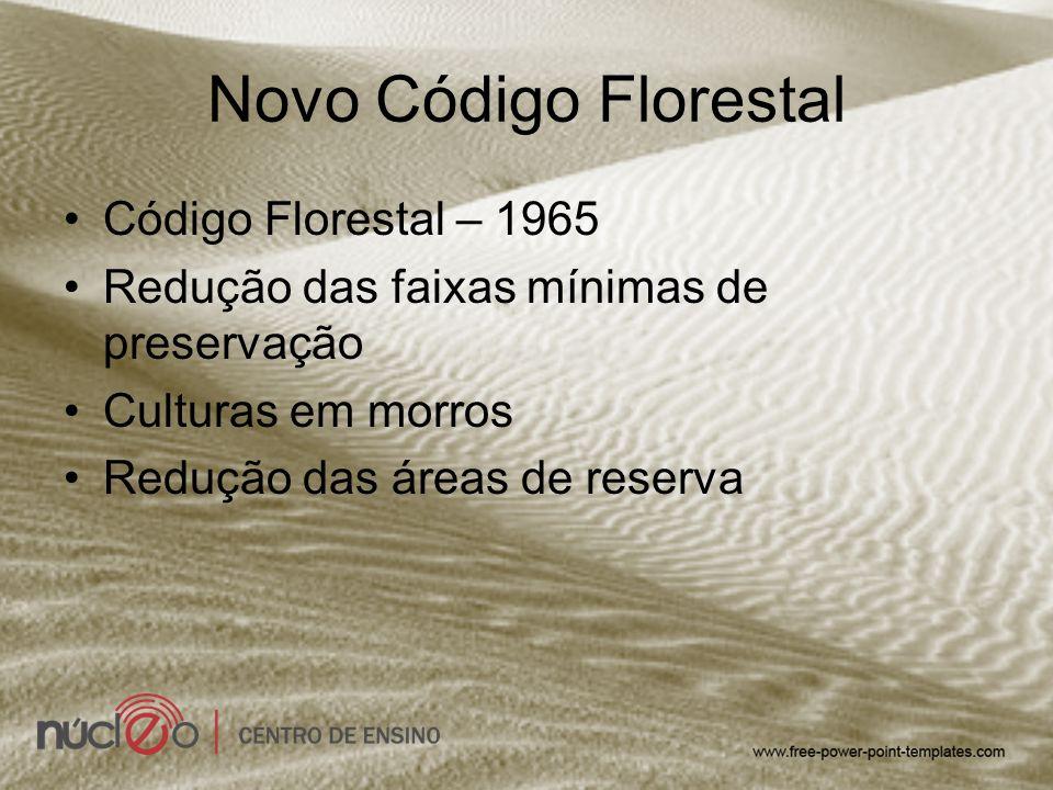 Novo Código Florestal Código Florestal – 1965