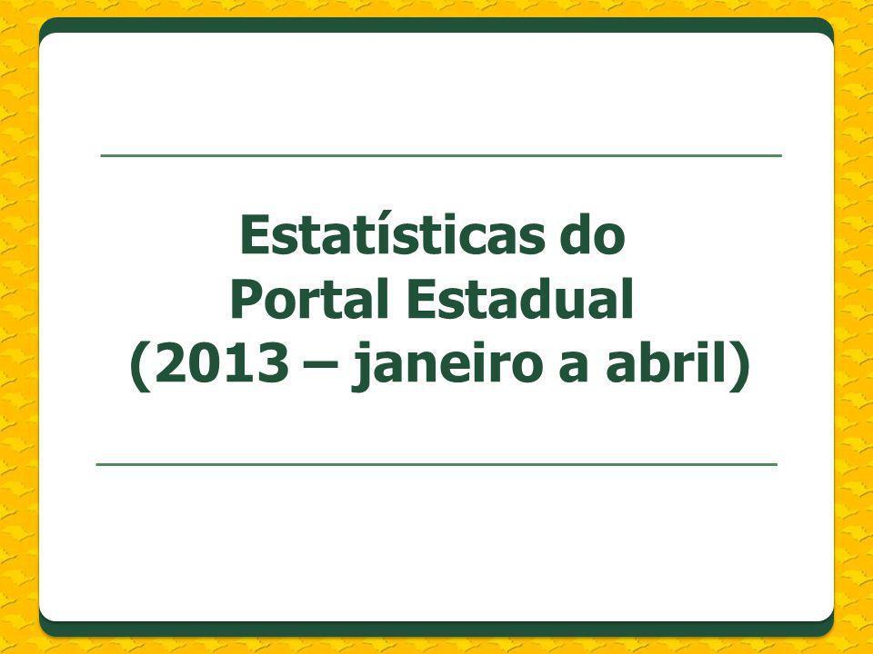 Estatísticas do Portal Estadual