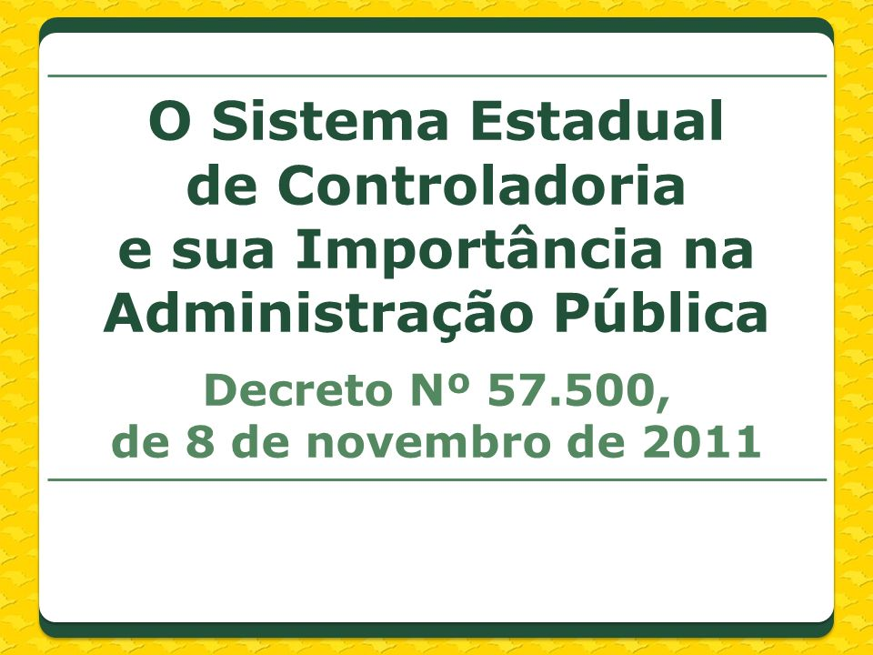 Decreto Nº 57.500, de 8 de novembro de 2011