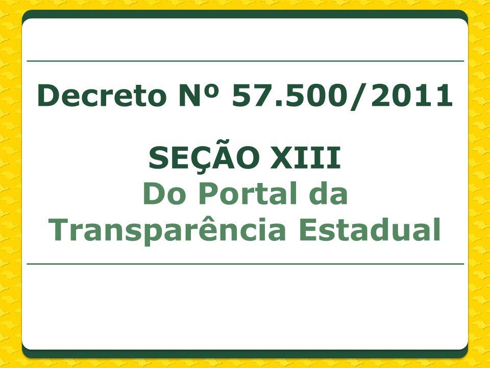 Do Portal da Transparência Estadual