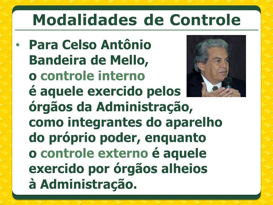 Modalidades de Controle