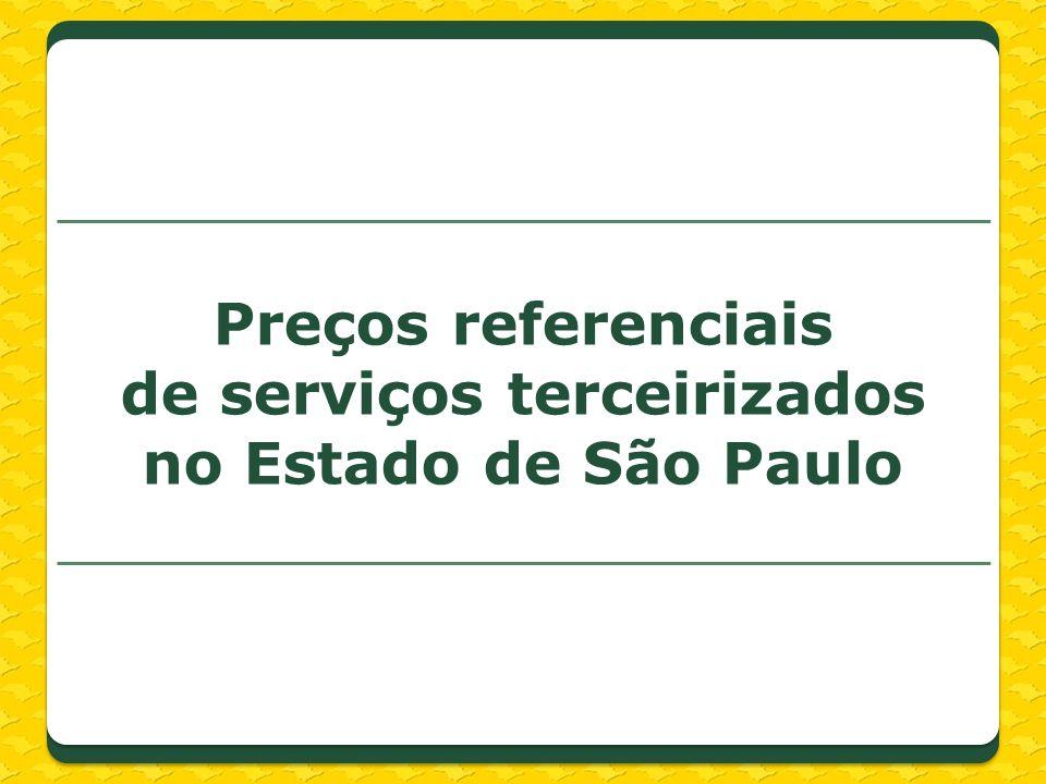 Preços referenciais de serviços terceirizados no Estado de São Paulo