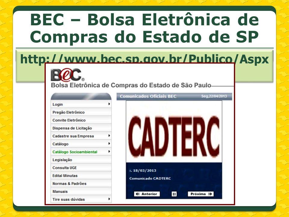 BEC – Bolsa Eletrônica de Compras do Estado de SP