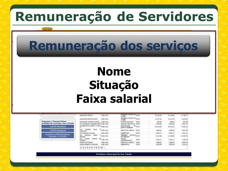 Remuneração de Servidores