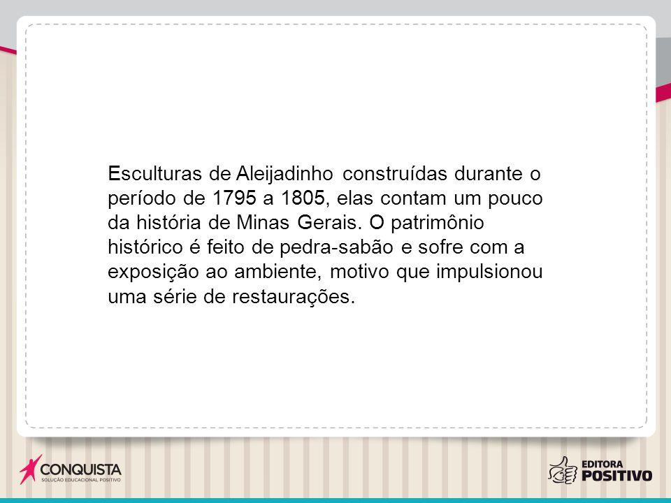 Esculturas de Aleijadinho construídas durante o período de 1795 a 1805, elas contam um pouco da história de Minas Gerais.