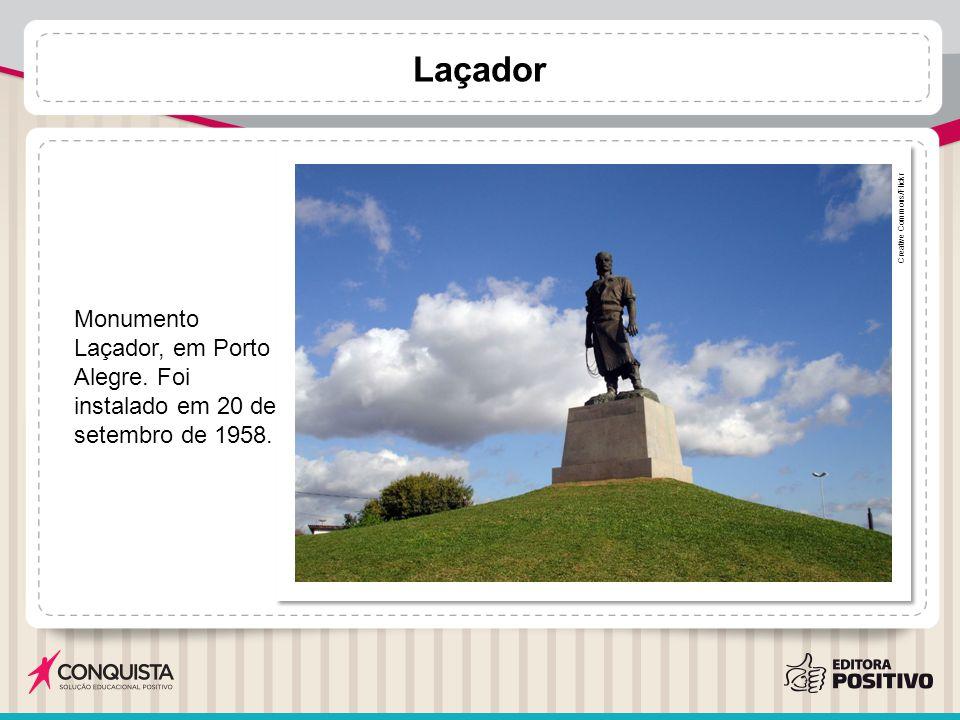 Laçador Creative Commons/Flickr. Monumento Laçador, em Porto Alegre. Foi instalado em 20 de setembro de 1958.