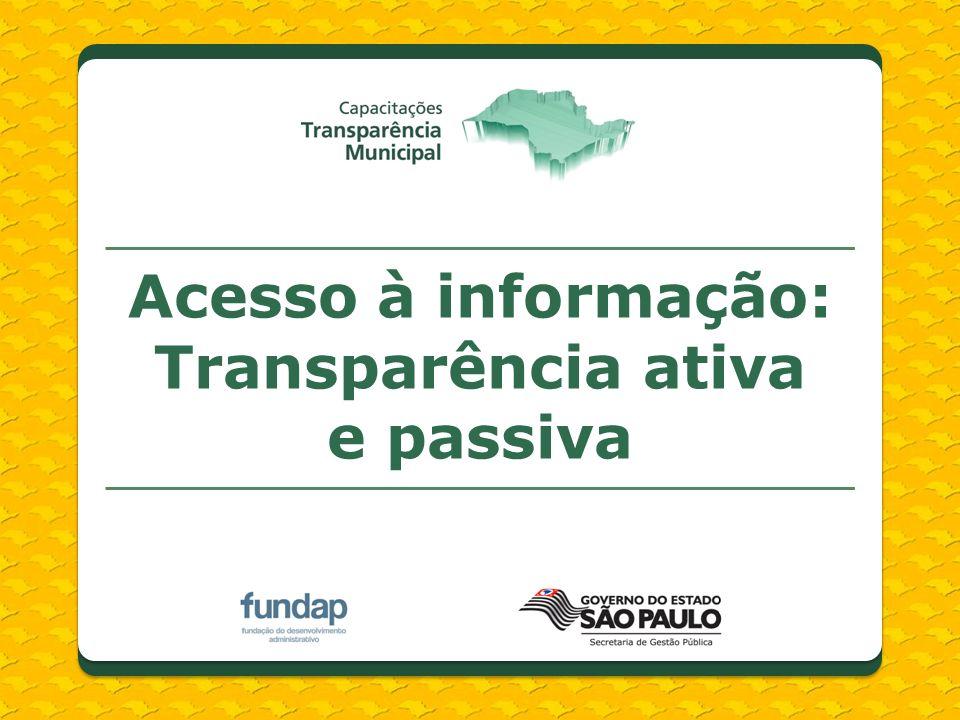 Transparência ativa e passiva