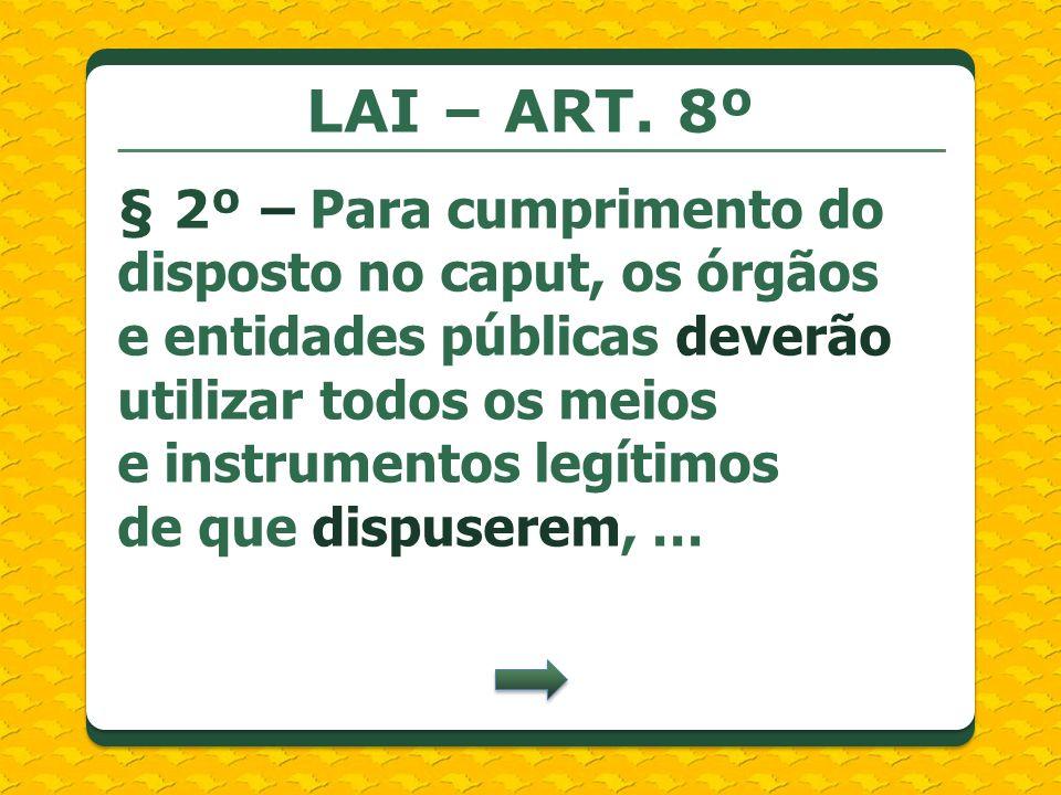 LAI – ART. 8º