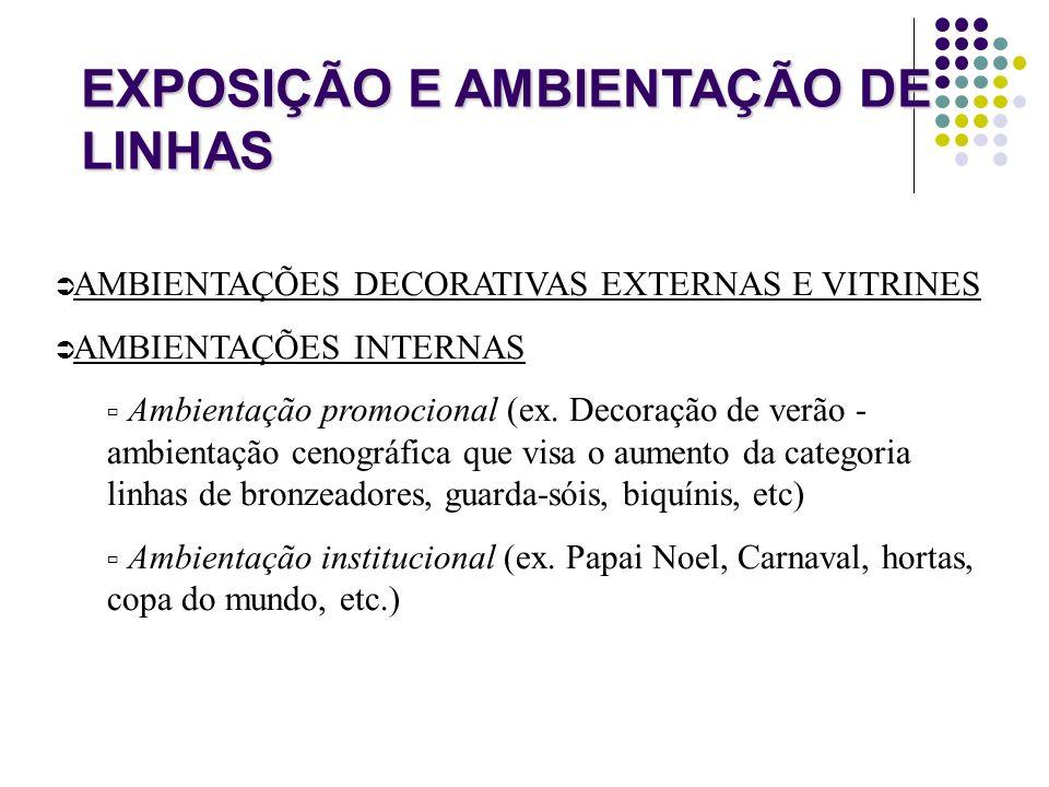 EXPOSIÇÃO E AMBIENTAÇÃO DE LINHAS