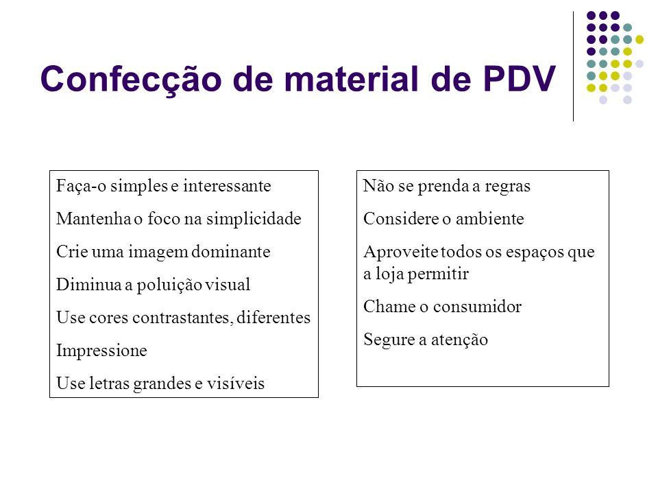 Confecção de material de PDV