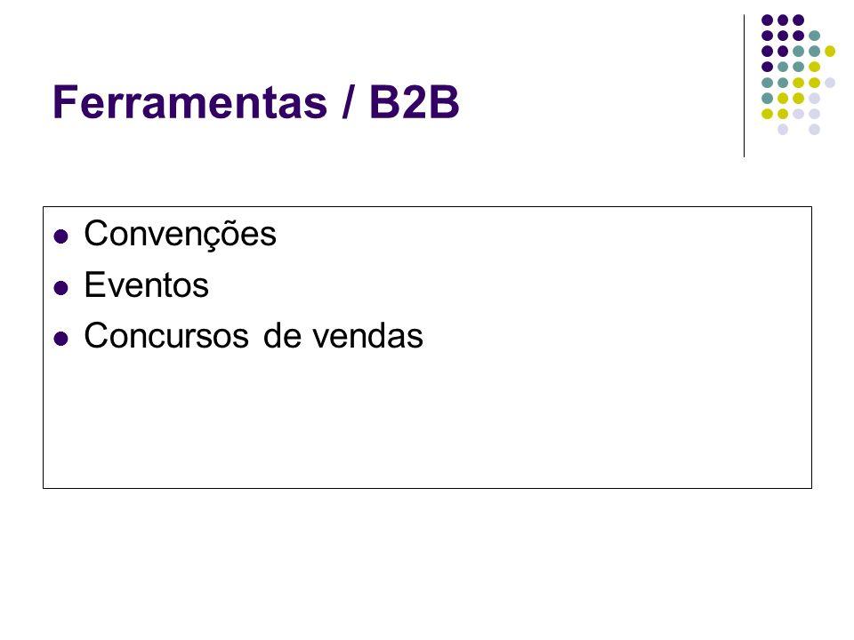 Ferramentas / B2B Convenções Eventos Concursos de vendas