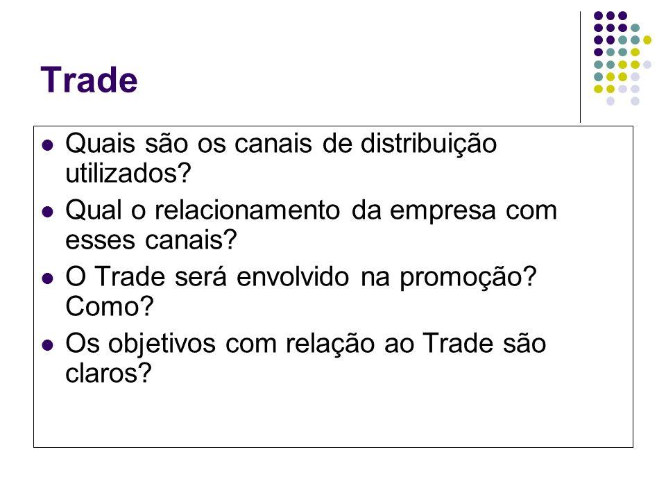 Trade Quais são os canais de distribuição utilizados