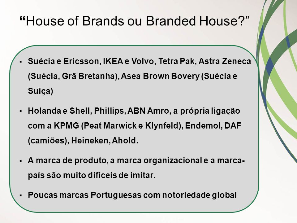 House of Brands ou Branded House