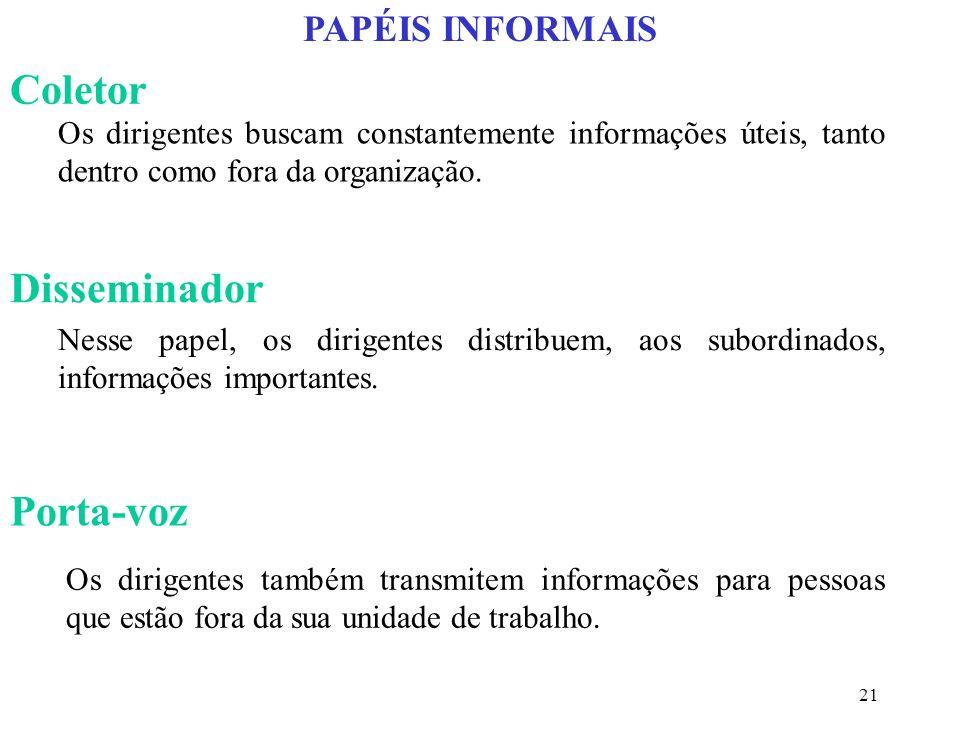 Coletor Disseminador Porta-voz PAPÉIS INFORMAIS