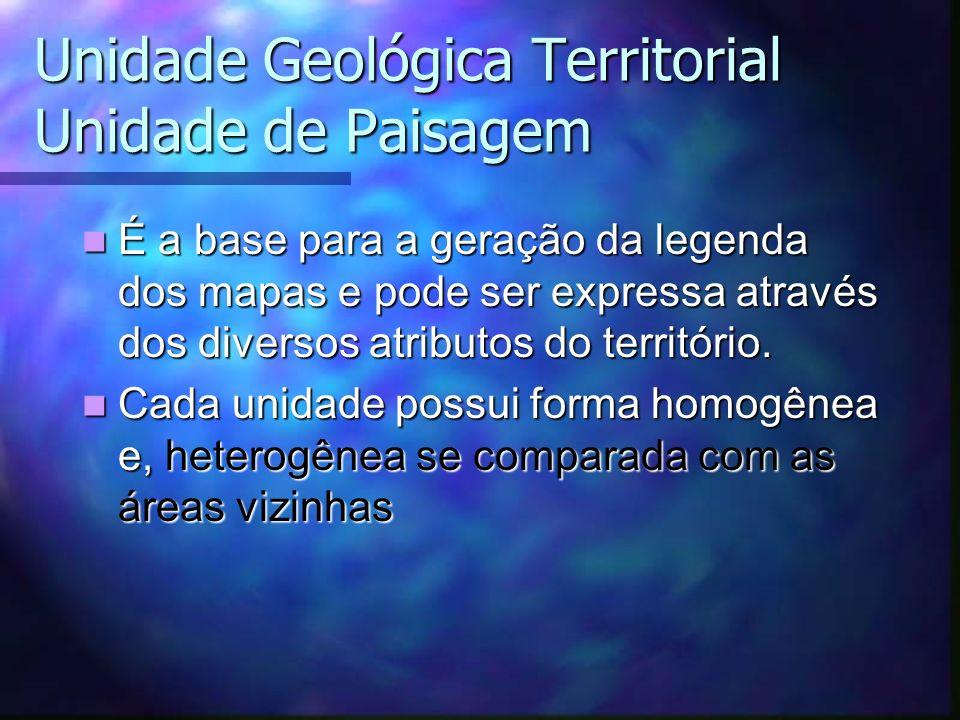 Unidade Geológica Territorial Unidade de Paisagem