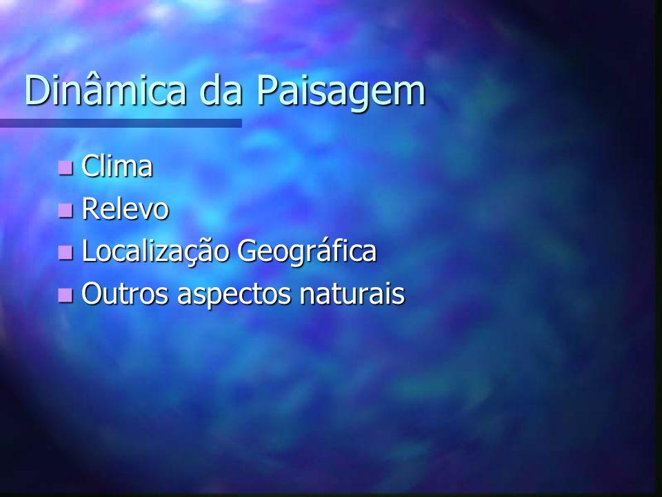 Dinâmica da Paisagem Clima Relevo Localização Geográfica