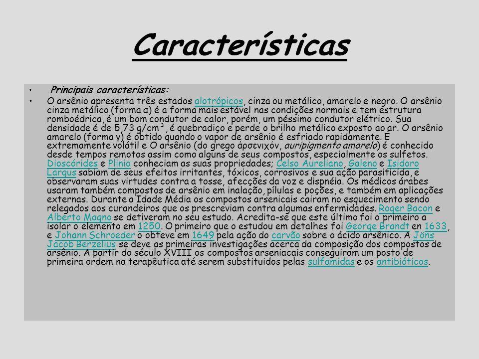 Características Principais características: