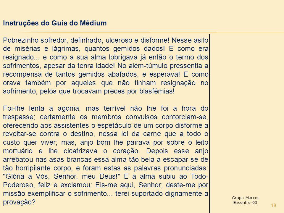 Instruções do Guia do Médium