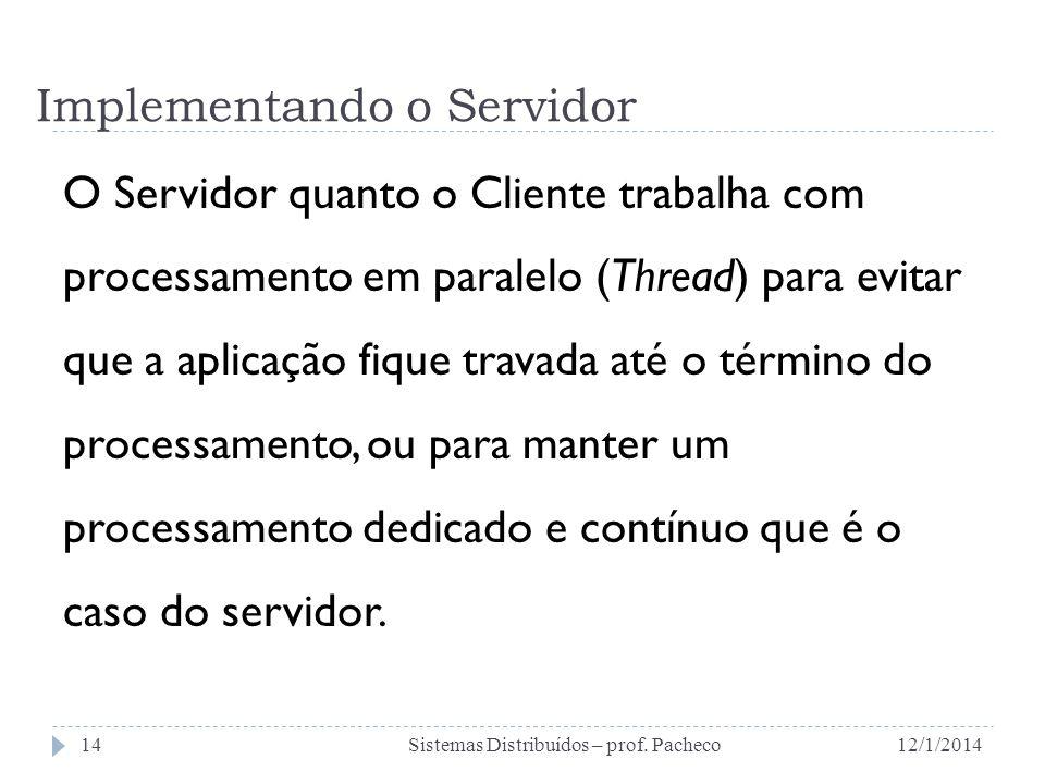 Implementando o Servidor