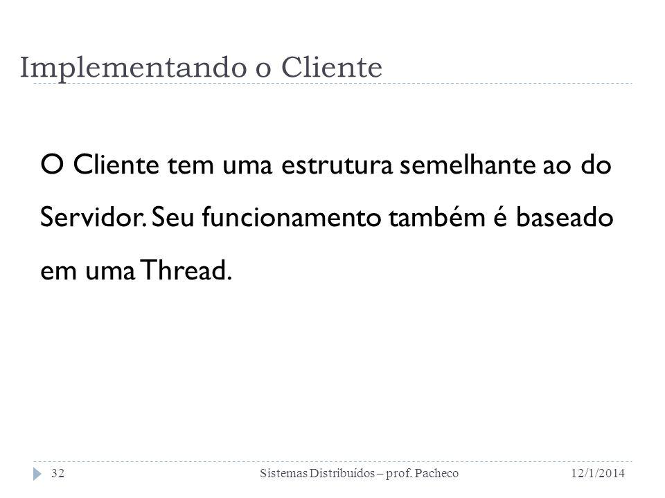 Implementando o Cliente