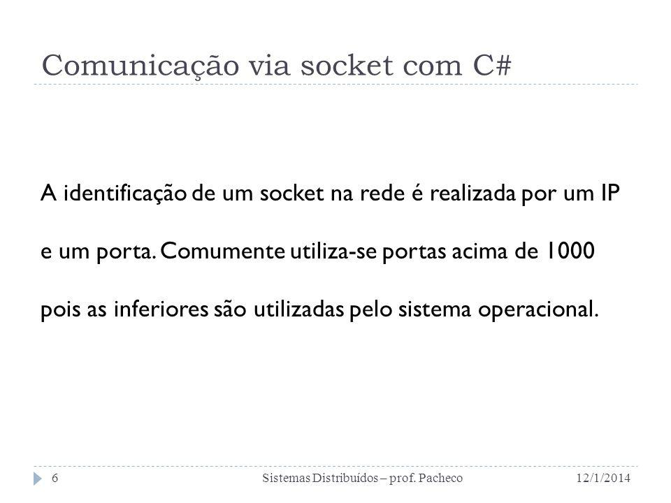 Comunicação via socket com C#