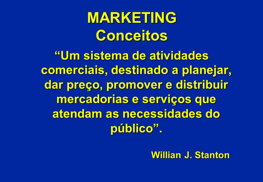 MARKETING Conceitos