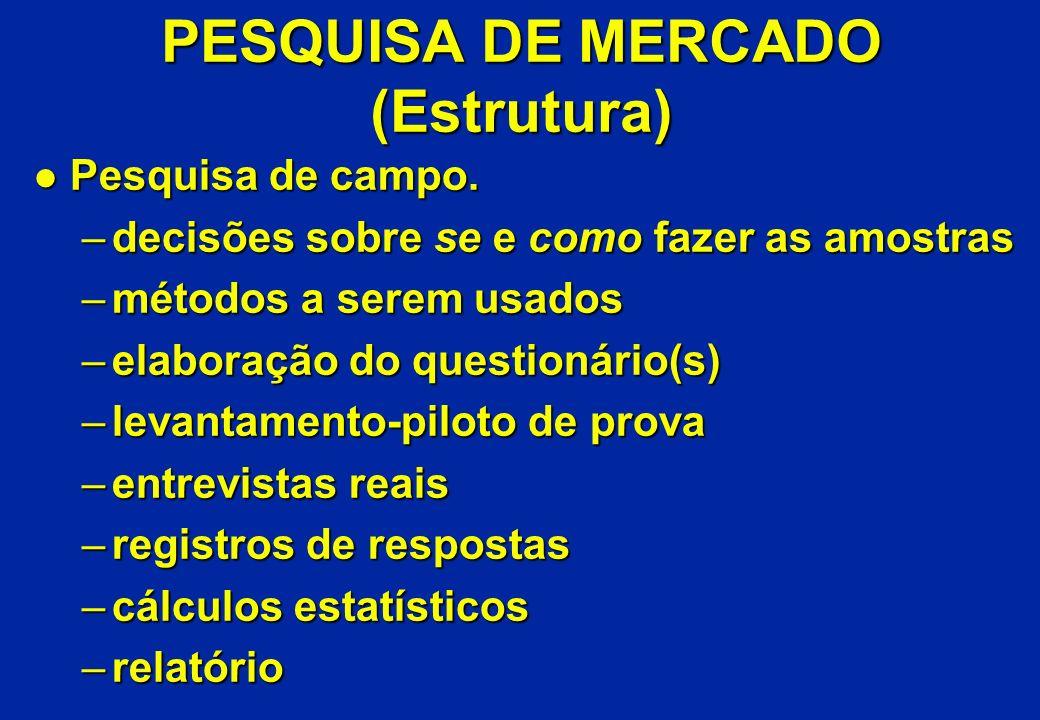 PESQUISA DE MERCADO (Estrutura)