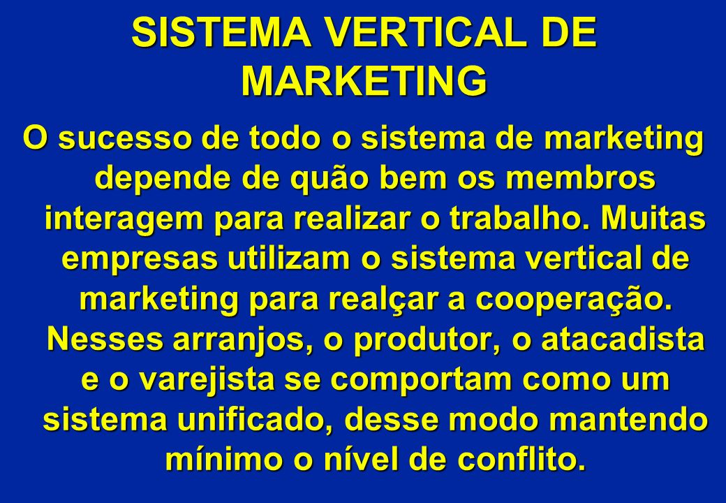 SISTEMA VERTICAL DE MARKETING