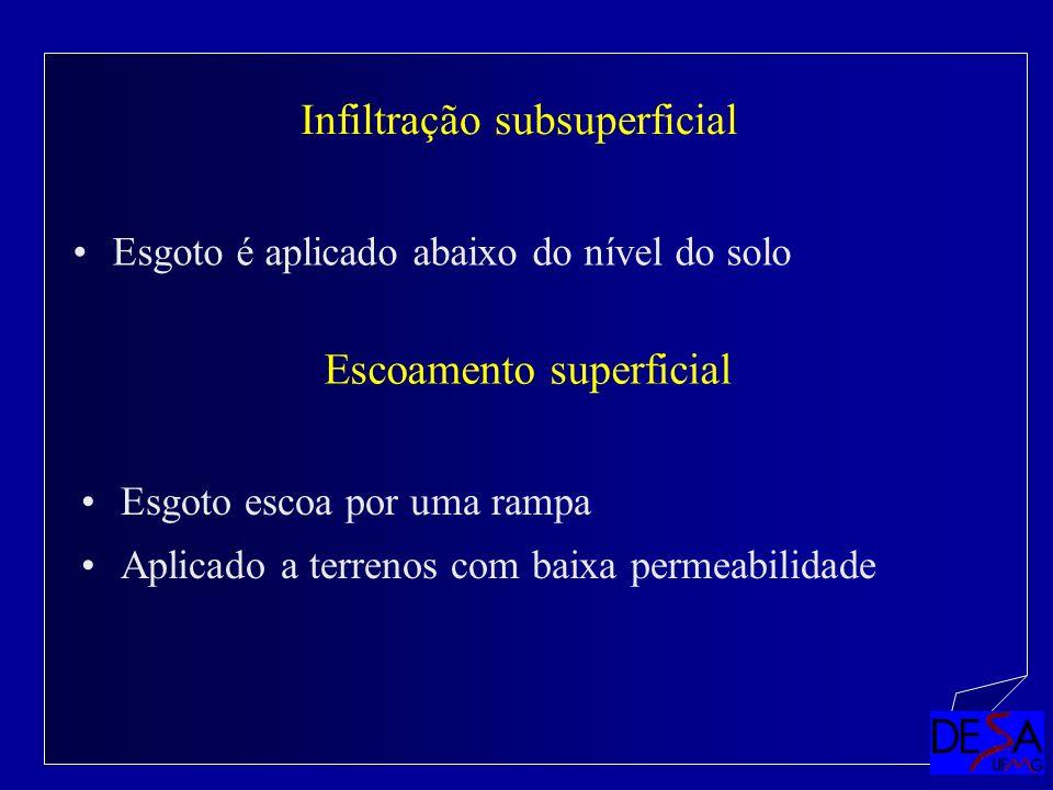 Infiltração subsuperficial
