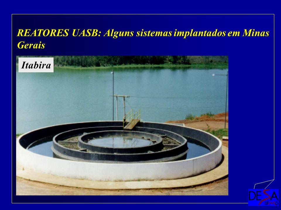 REATORES UASB: Alguns sistemas implantados em Minas Gerais