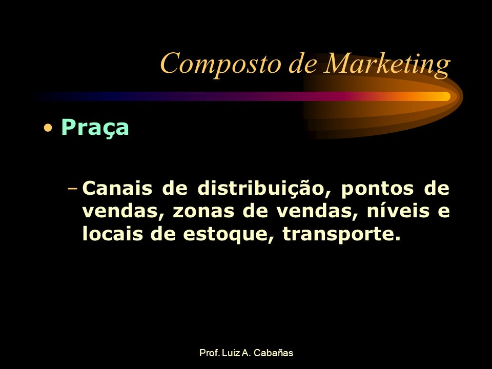 Composto de Marketing Praça