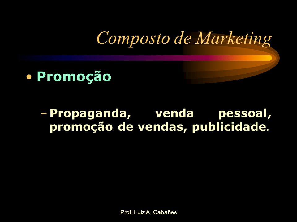 Composto de Marketing Promoção