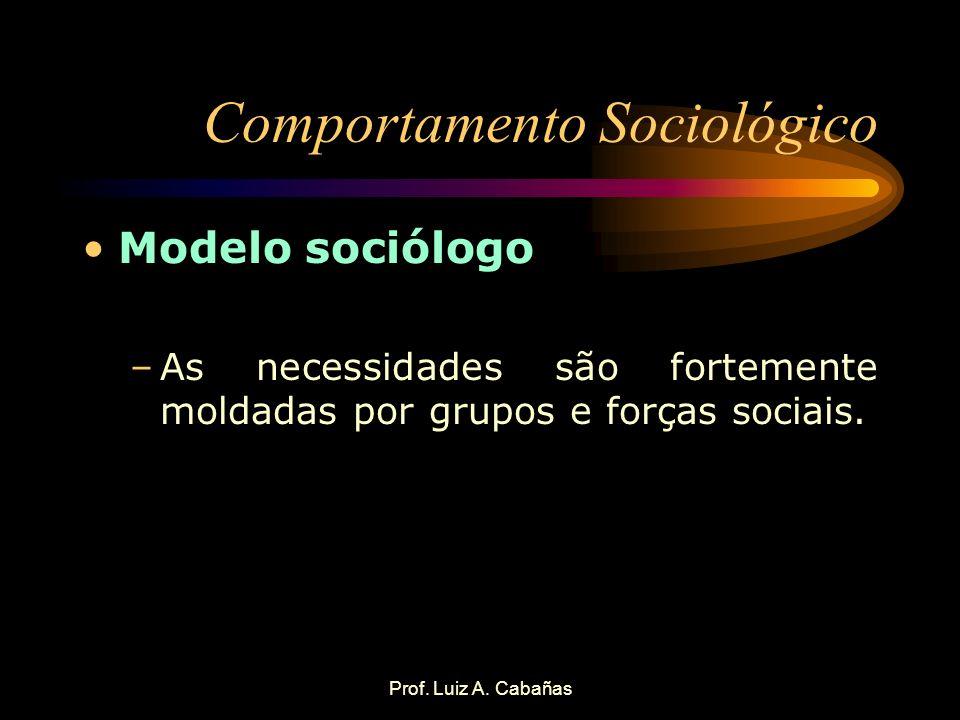 Comportamento Sociológico