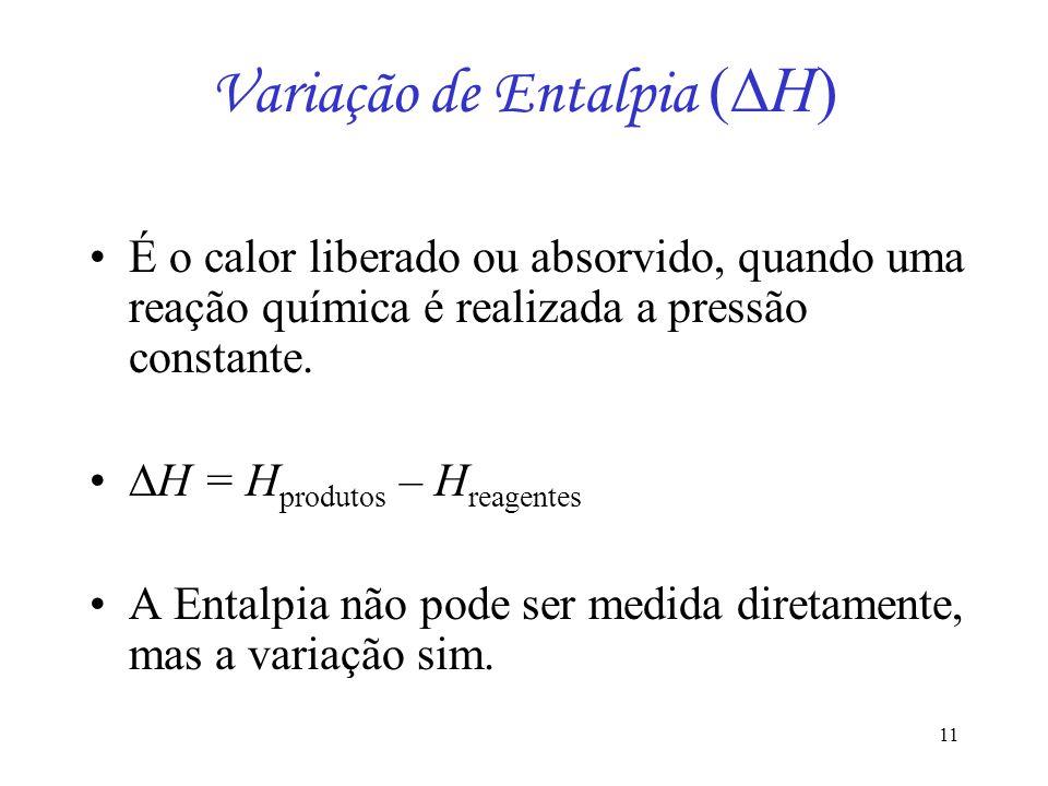 Variação de Entalpia (H)