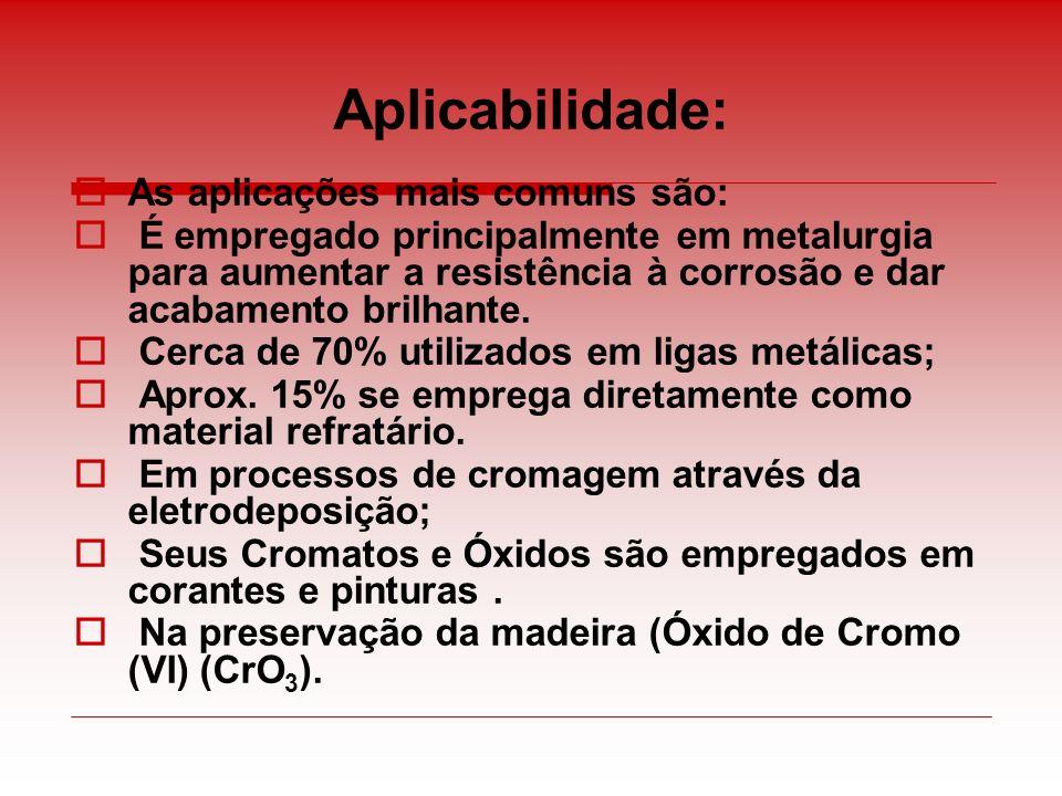 Aplicabilidade: As aplicações mais comuns são: