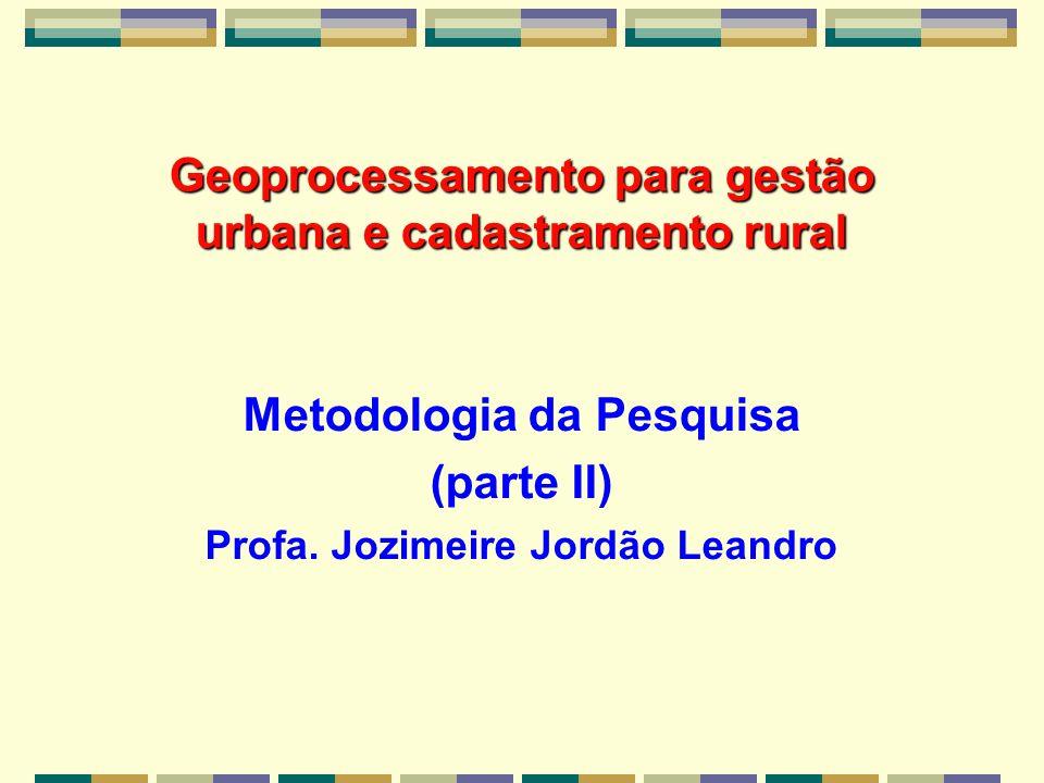 Geoprocessamento para gestão urbana e cadastramento rural