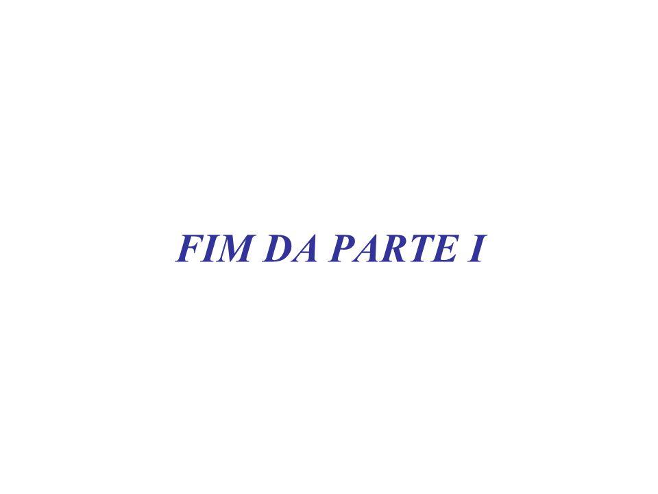 FIM DA PARTE I