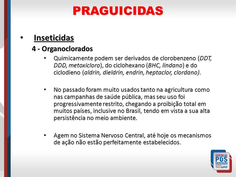 PRAGUICIDAS Inseticidas 4 - Organoclorados