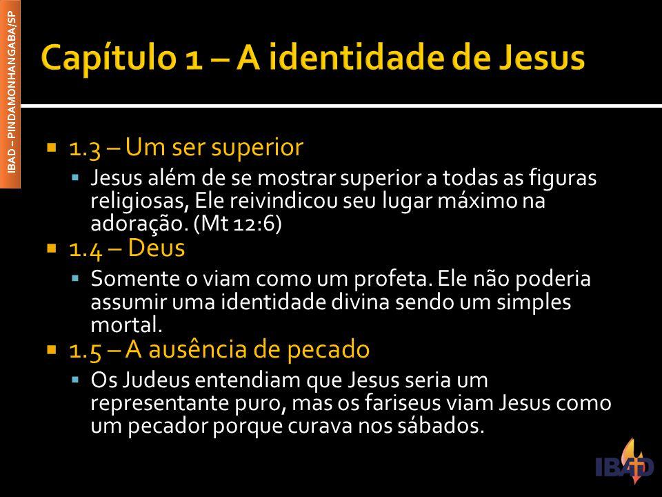 Capítulo 1 – A identidade de Jesus