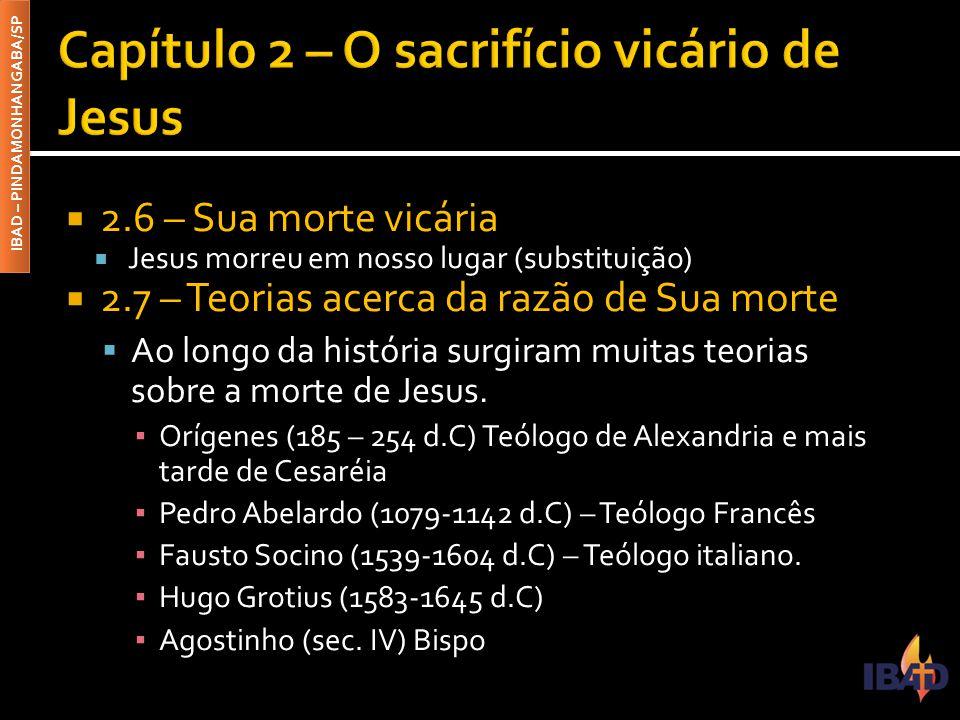 Capítulo 2 – O sacrifício vicário de Jesus